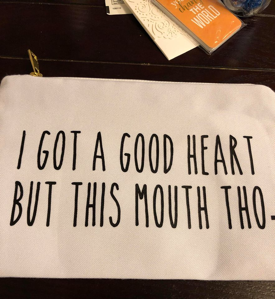 Good Heart but This Mouth Canvas Bag