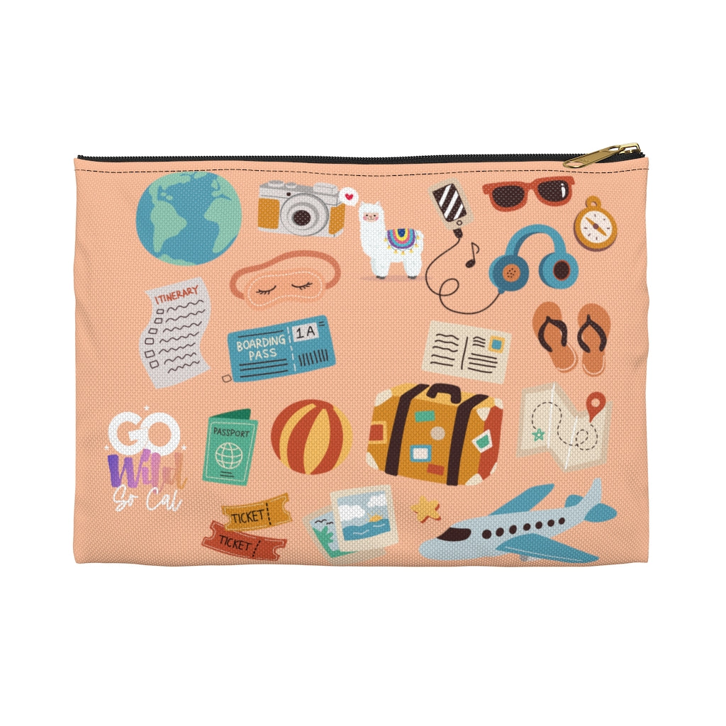 Lets Travel LLAMA Wild Ones Go Wild 2020 Official Canvas Zipper Pouch