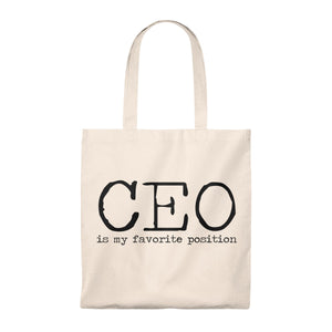 CEO favorite position vintage tote bag