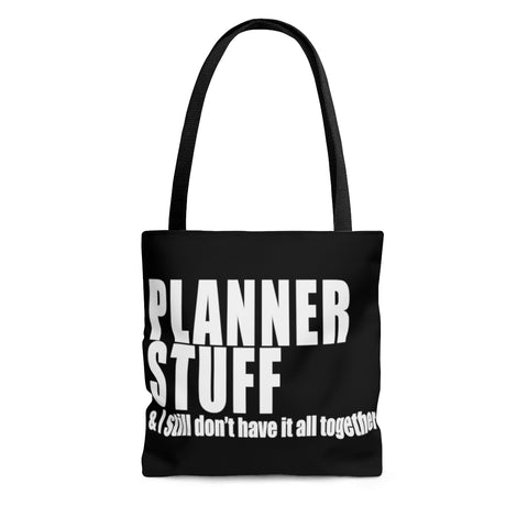 Planner Stuff Canvas Tote Bag