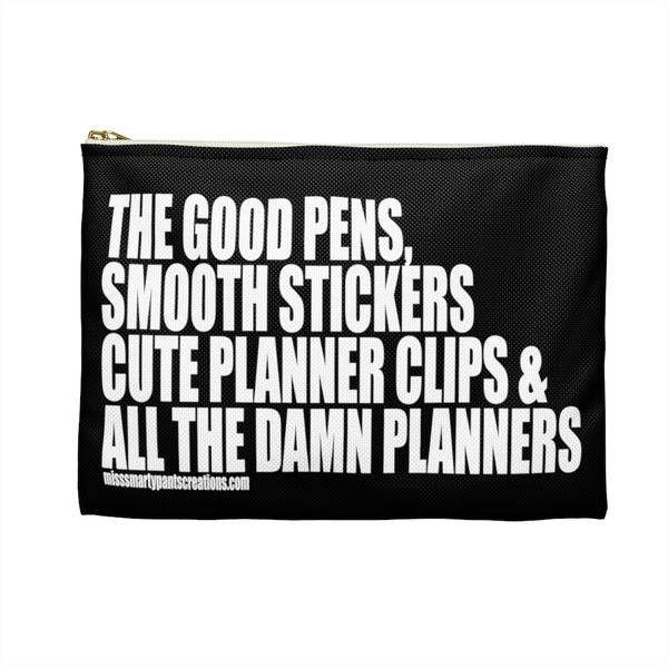 ALL the Damn Planners Planner Zipper storage pouch