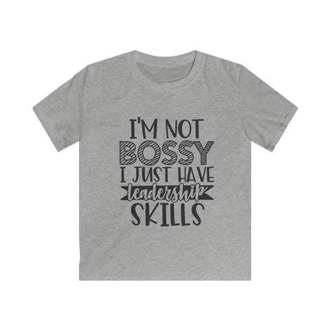 Not Bossy but Leadership Kids Softstyle Tee
