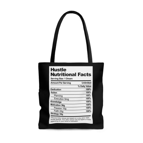 Hustle Nutritional Facts Large Tote Bag