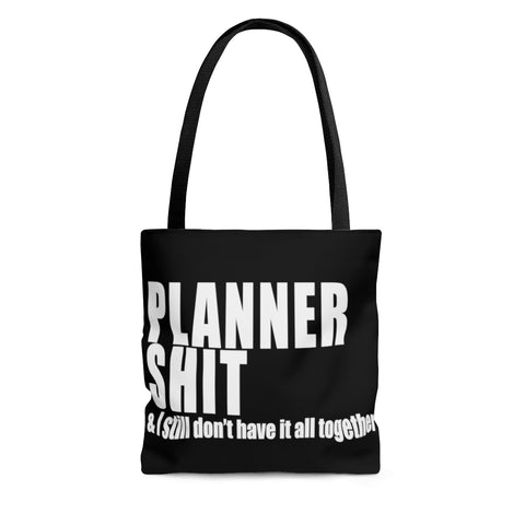 Planner Sh*t Canvas Tote Bag