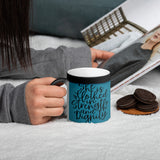 Clothed in Strength Matte Black Magic Mug