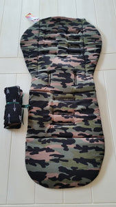 Reversible Pram Liner Camo Army Print - Black & White Arrows