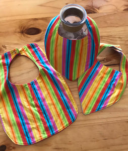 Bib - Rainbow Stripe