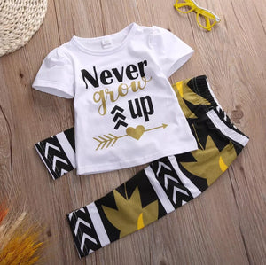 Never Grow Up 2 Piece Set