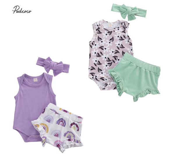 Willow Bloom set & Penny Purple Rainbow Bloom set