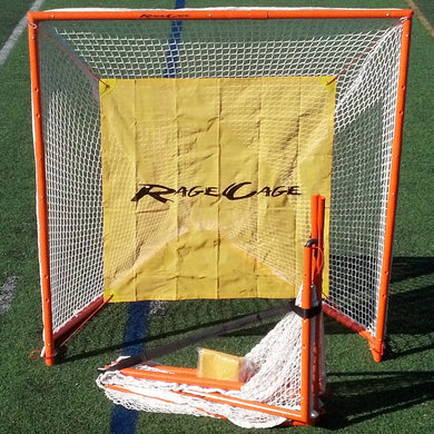 Rage Cage Club V4 Full-Size Folding Lacrosse Goal with Shot Blocker