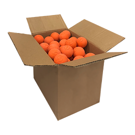 Orange Lacrosse Balls (NOCSAE specifications. Meets NCAA and NFHS Standards )