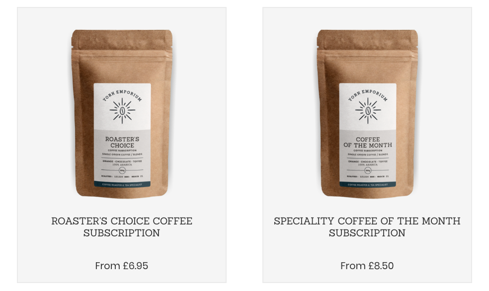 Roasted Coffee Subscription