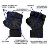 Ventilated Weight Lifting Gloves With Wrist Wraps