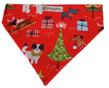Christmas Dogs Red Bandana