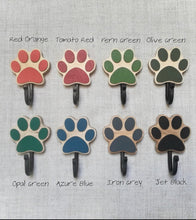Handmade Wooden 'Paw' wall Leash Holder