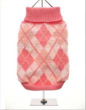 Pink Argyle Knitted Sweater