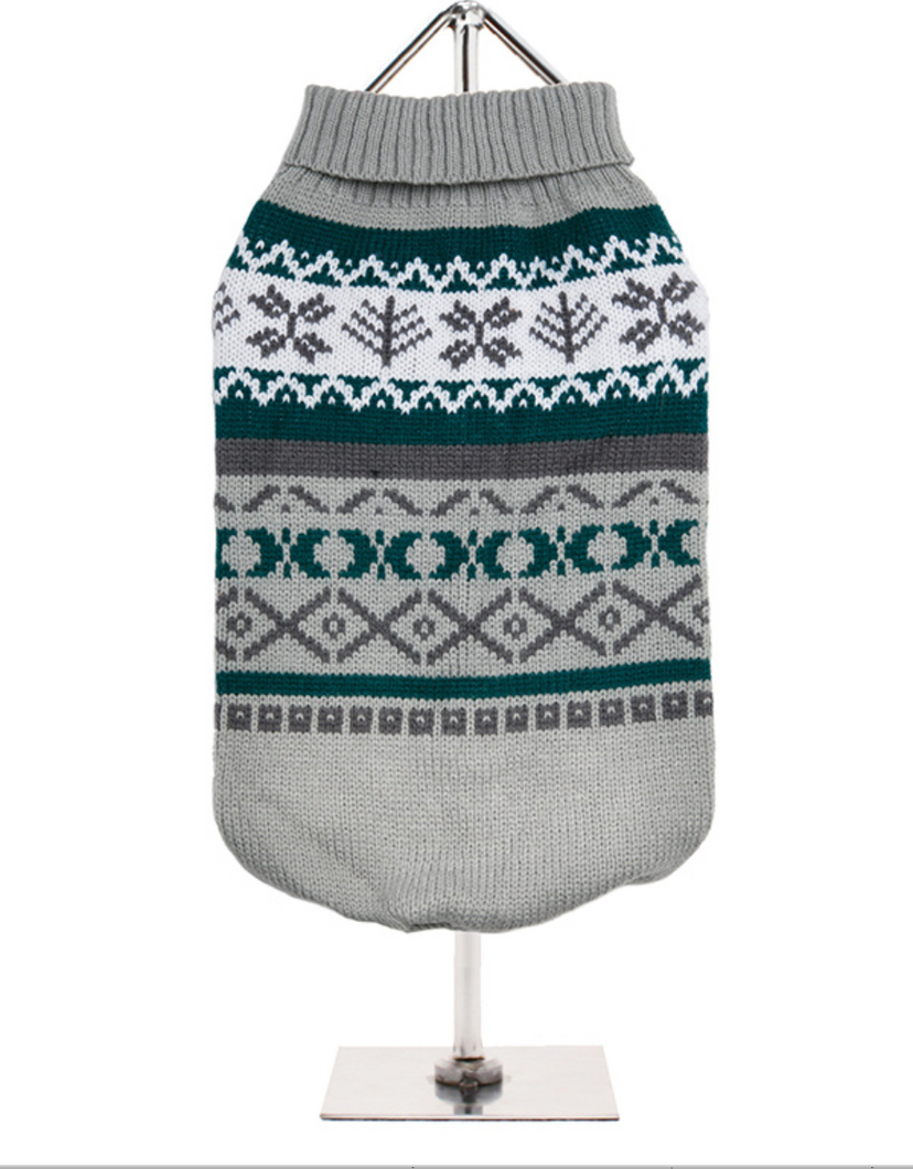 Grey Fair Isle Vintage Sweater