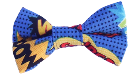 Super Hero - Blue  -  Bow Tie