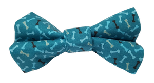 Green Bone Print Bow Tie
