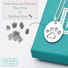 Sterling Silver Keepsake of your Darling Pooches Paw Print