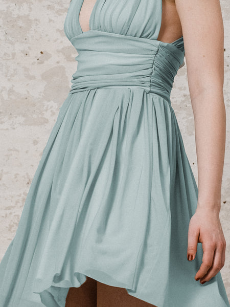 Tüllkleid A-Linie mit tiefem Decolleté in mint