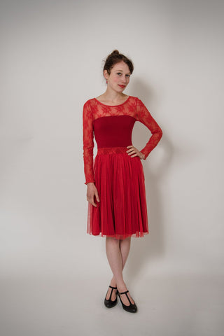 "Tüllkleid ""Red Lady"""