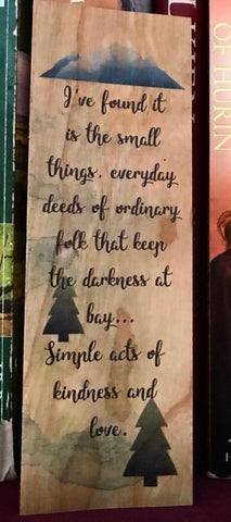 Middle Earth Quote Woodmark