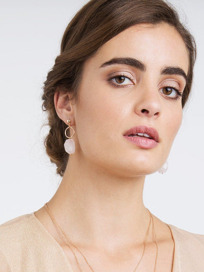 Rosy Earrings - rose gold
