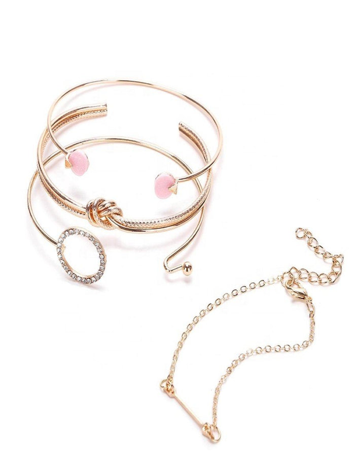 Chic Bracelet set of 4 - Gold