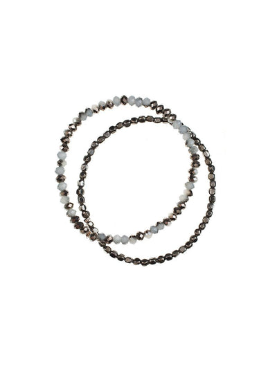 Duo Bracelet Set - grey/black
