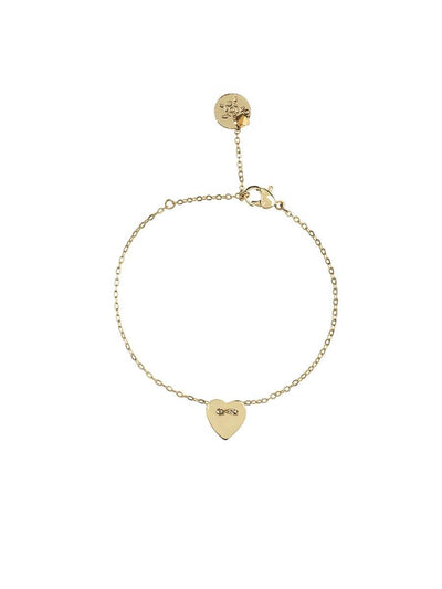 Heart Charms Bracelet - gold