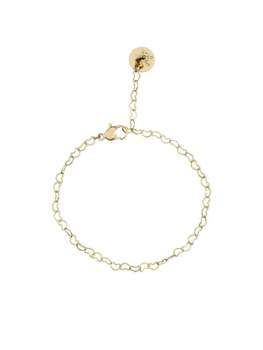 Interlinked Heart Bracelet - gold