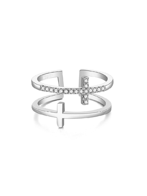 Cross Ring - Silver
