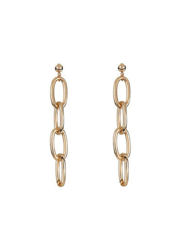 Chain Earrings - gold