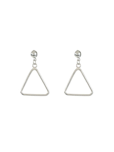 Triangle Earrings - silver