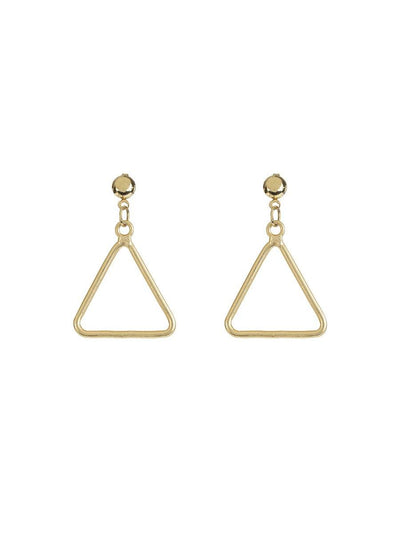 Triangle Earrings - gold