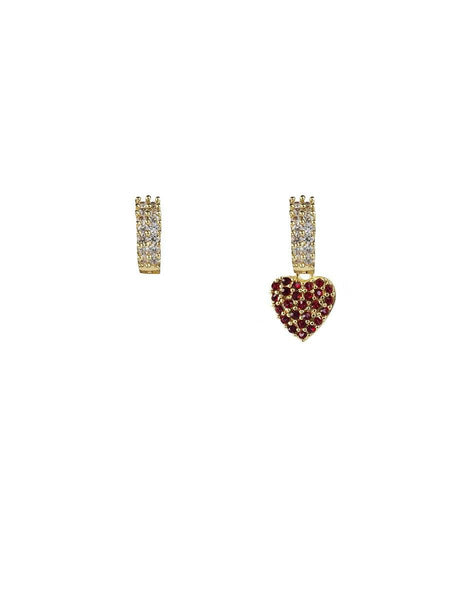 Sparkle Heart Earrings - gold