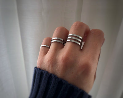 Bella Ring Set - Silver