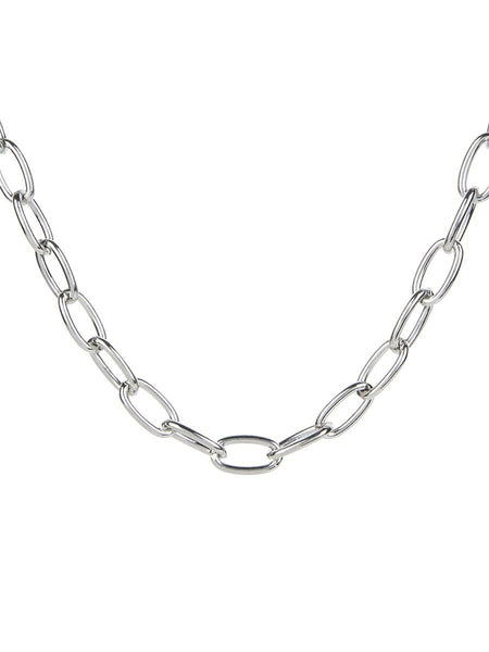 Single Chain Necklace - silver
