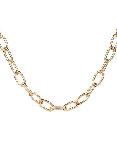 Single Chain Necklace - gold