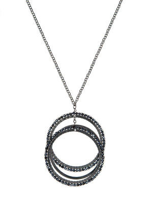 Crystal 3-circle Necklace