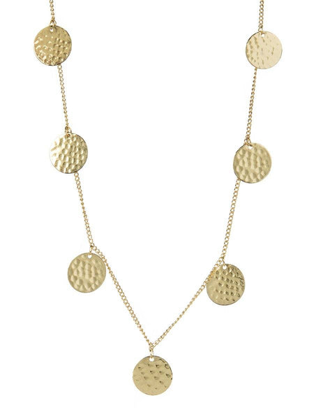 Disc Necklace - gold