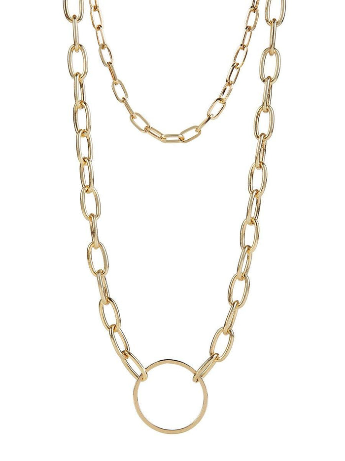 Double Chain Necklace - gold