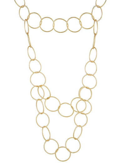 Layered Circle Necklace - gold