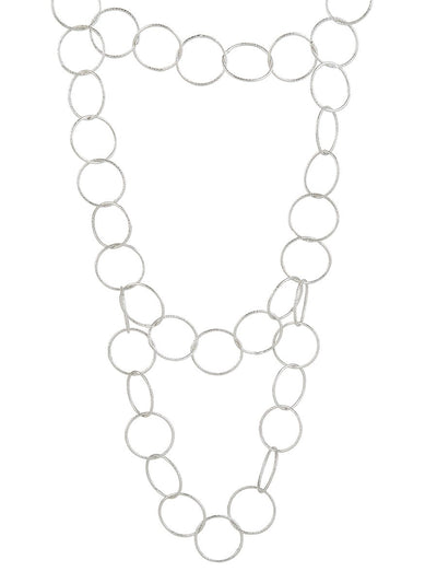 Layered Circle Necklace - silver