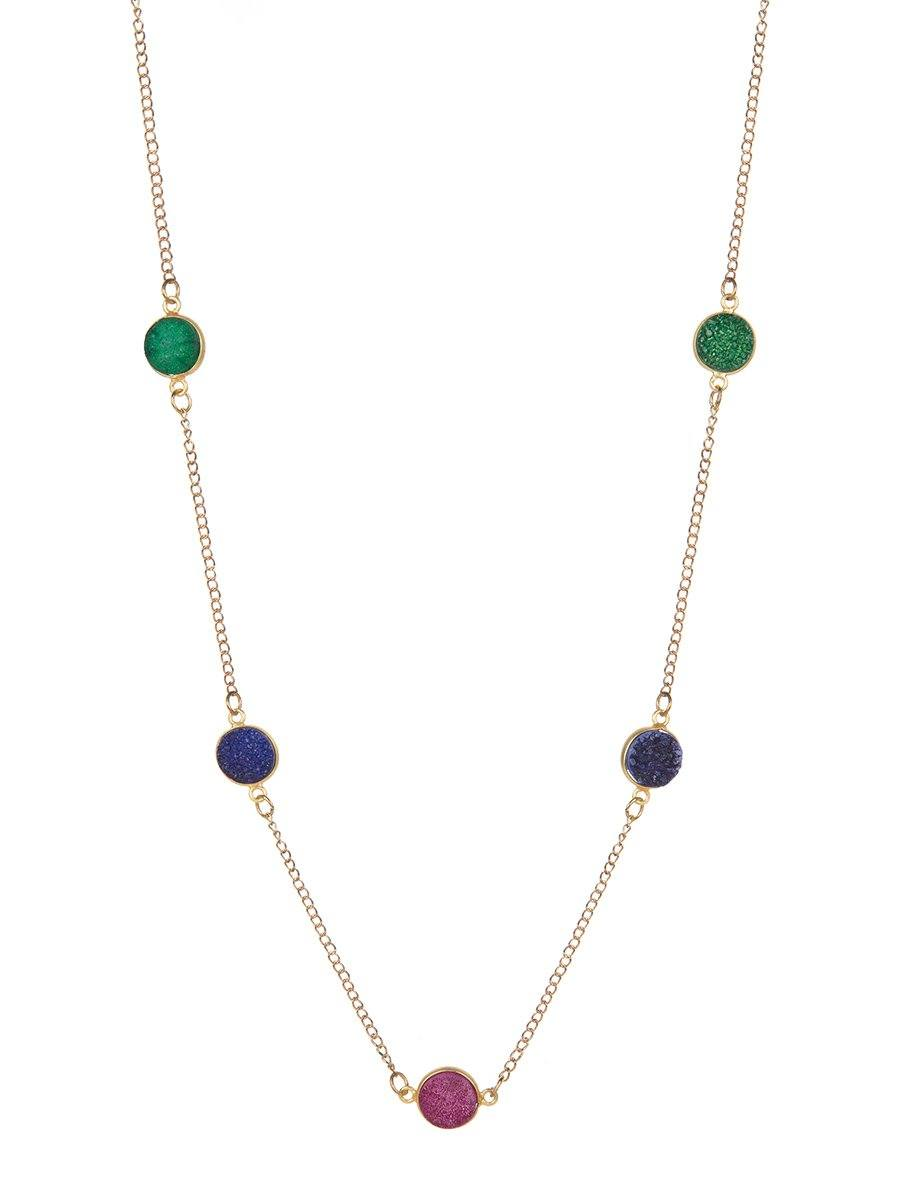 Multi-colour Pietra longline Necklace