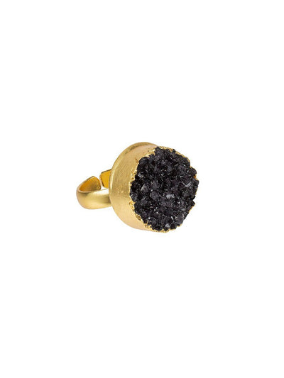 Pietra Ring Adjustable - black