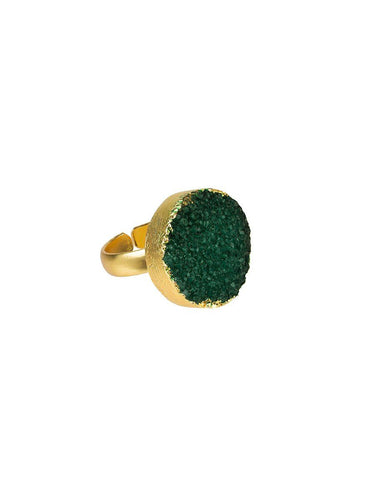 Pietra Ring Adjustable - green