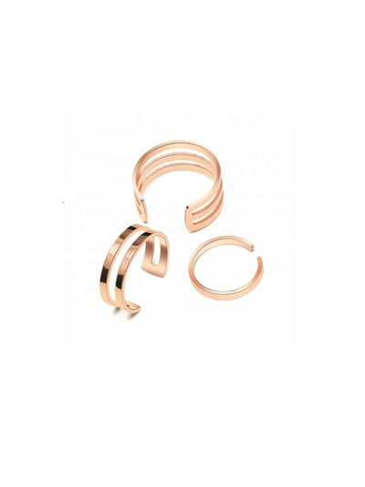 Bella Ring Set - Rose Gold