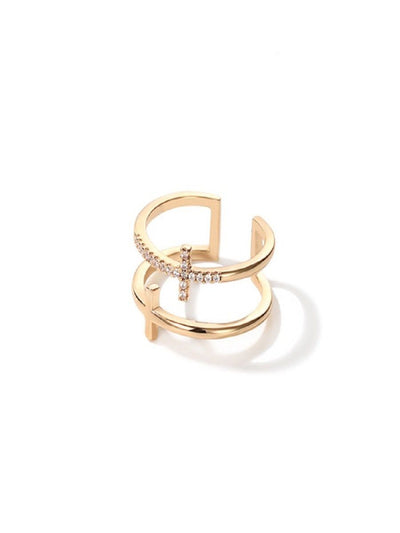 Cross Ring - Gold